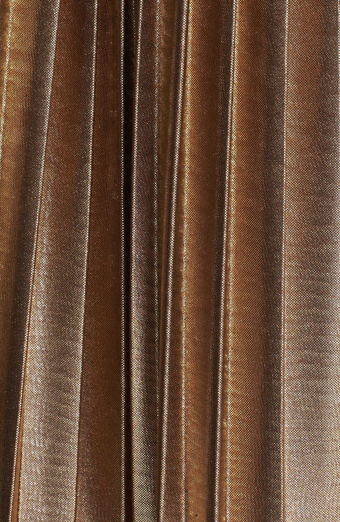 Alternate Image 3  - Rules of Etiquette Metallic Pleat Skirt