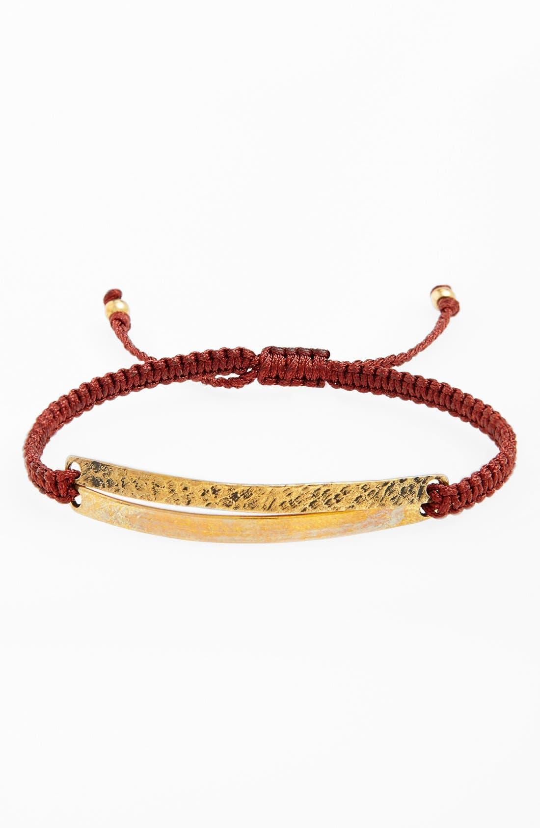 Main Image - Max Reed Double Brass Inset Nylon Cord Bracelet