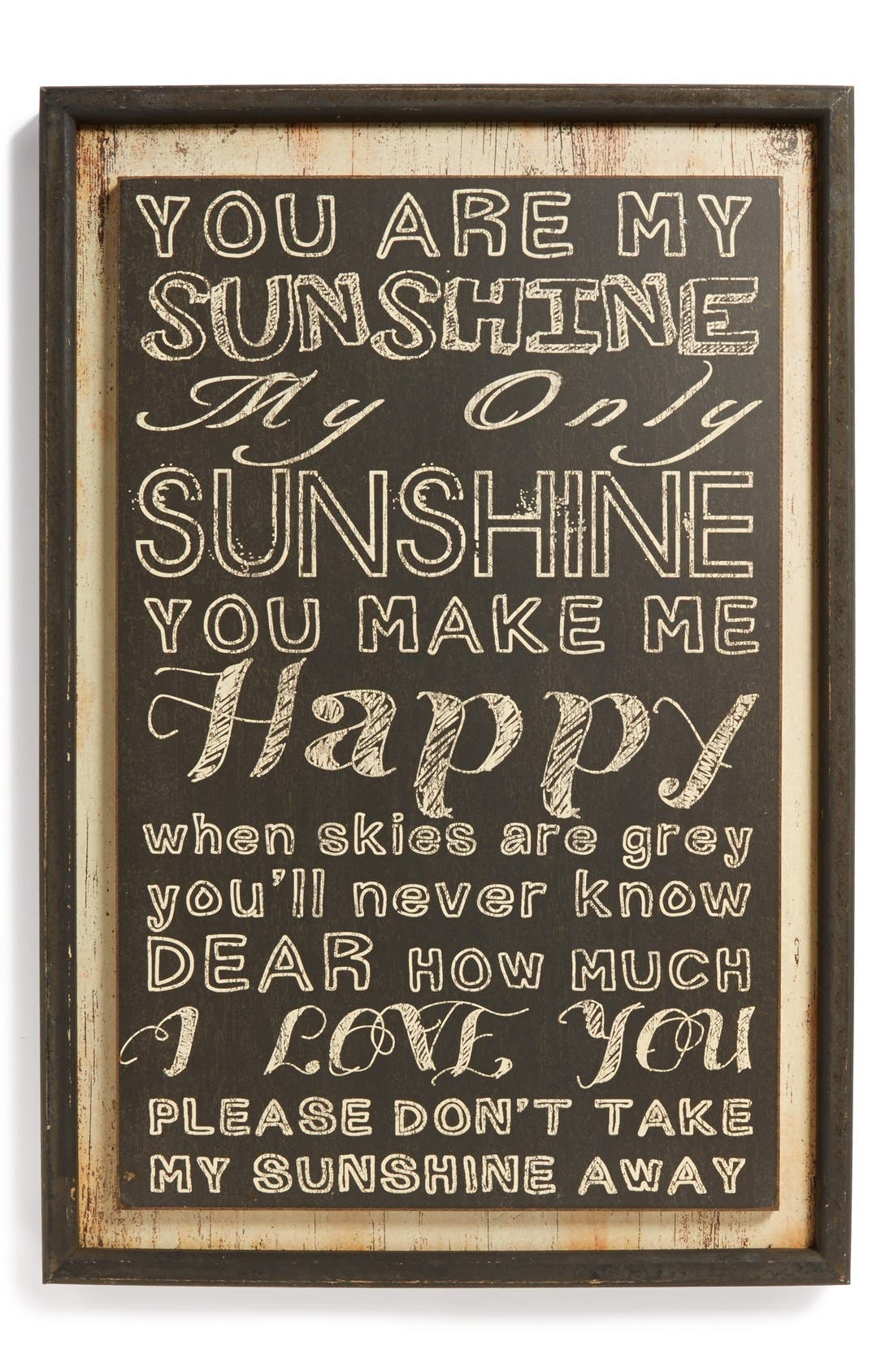 Alternate Image 1 Selected - VIP International 'You Are My Sunshine' Wall Art