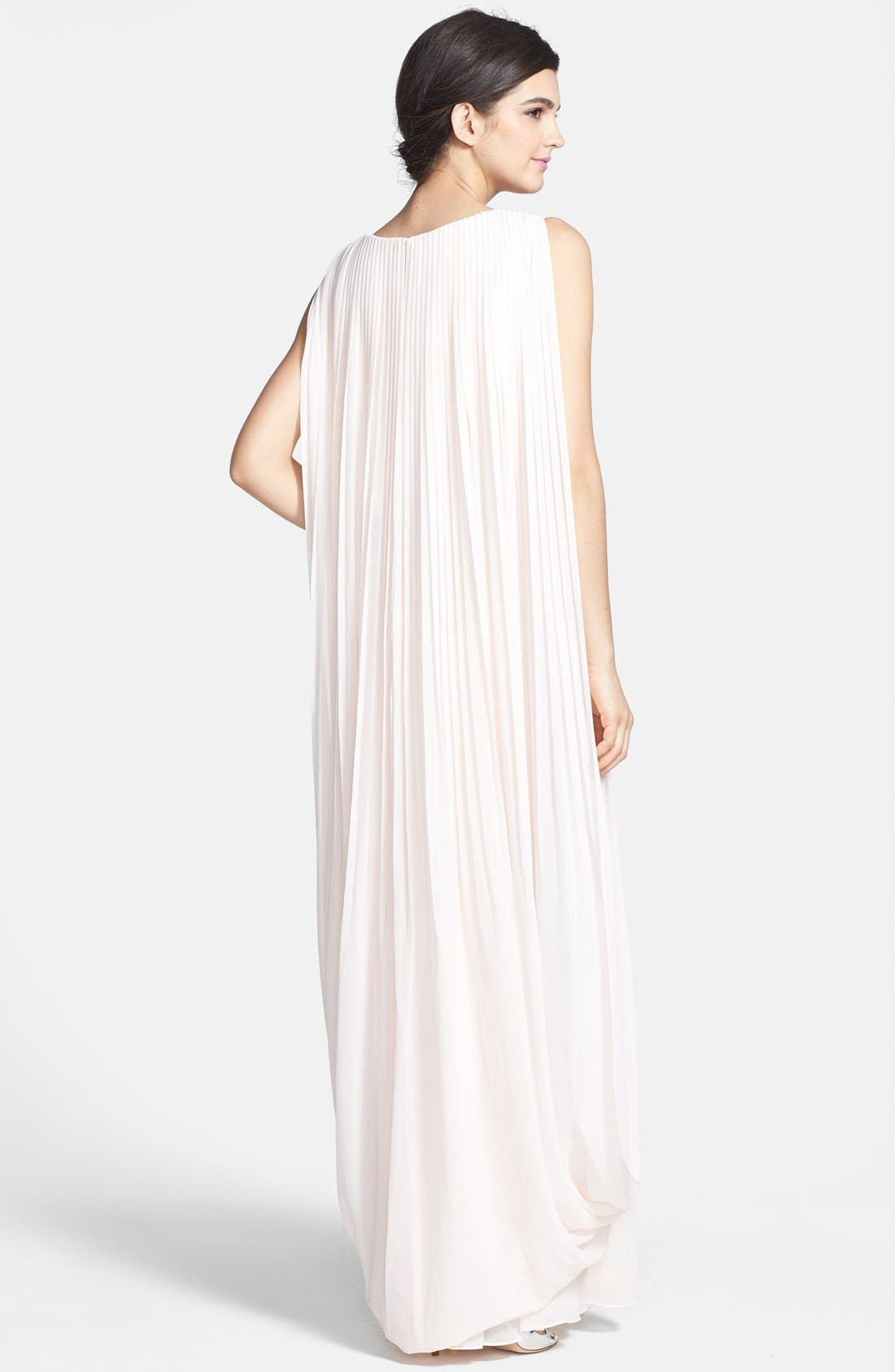 Alternate Image 2  - Ted Baker London 'Lyonele' Cape Back Draped Chiffon Maxi Dress
