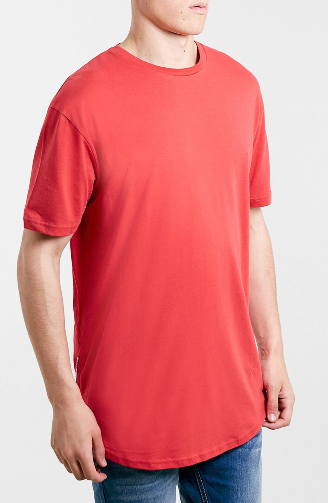 Alternate Image 1 Selected - Topman Zip Detail Crewneck T-Shirt