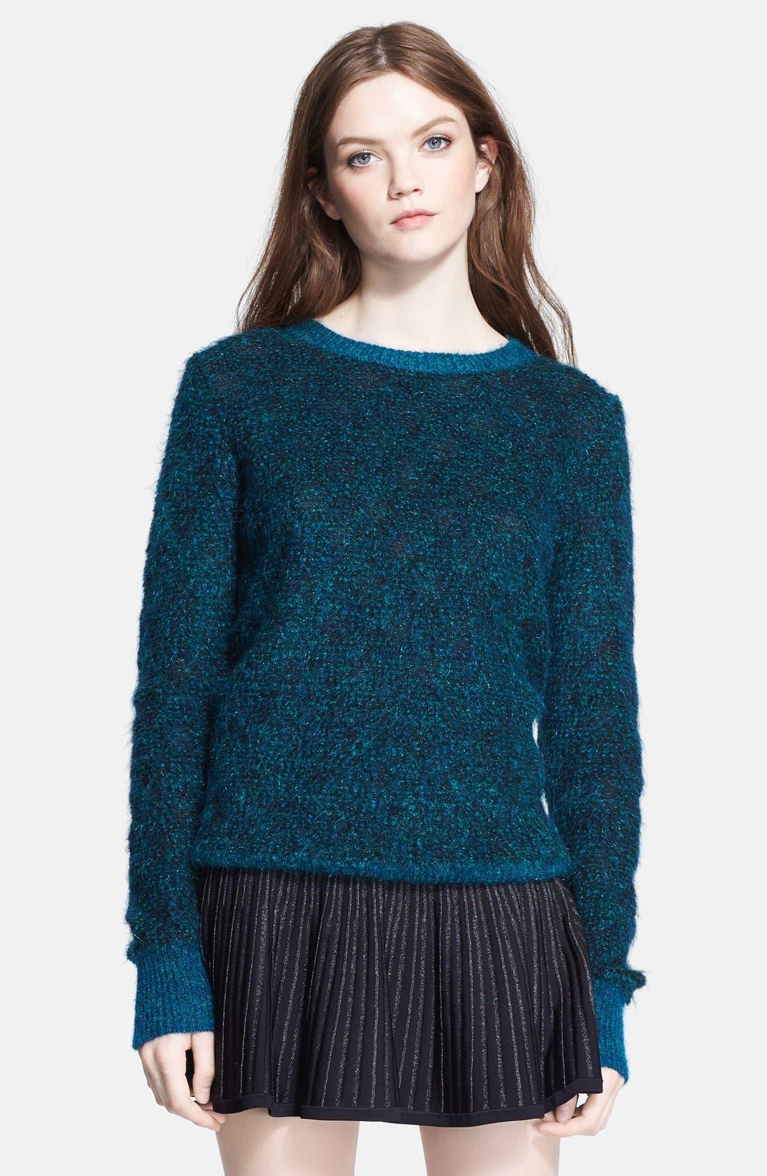 Main Image - A.L.C. 'Adina' Metallic Mohair Sweater