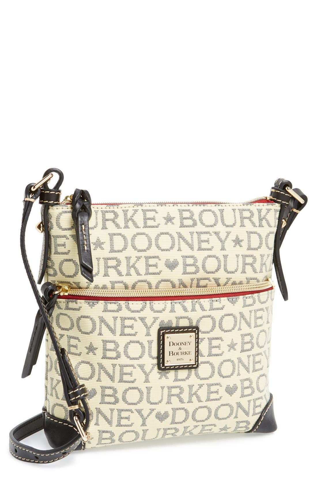 Main Image - Dooney & Bourke Logo Jacquard Crossbody Bag