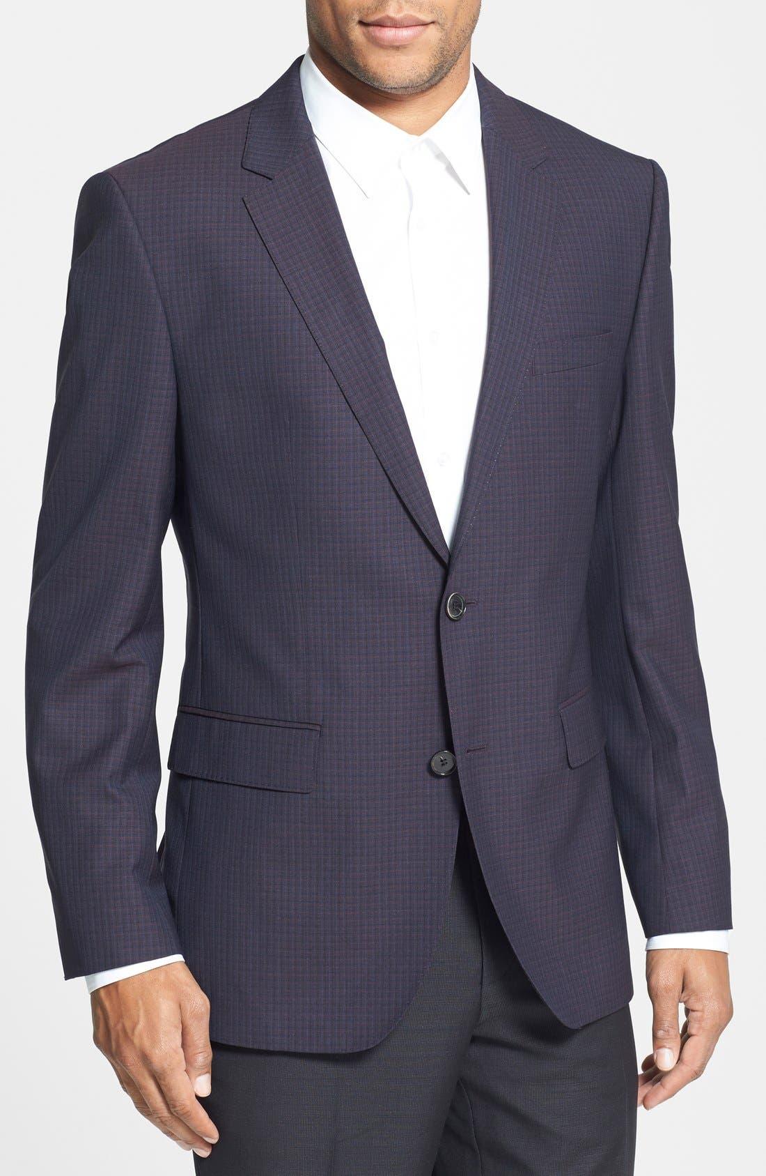 Alternate Image 1 Selected - BOSS HUGO BOSS 'James' Trim Fit Check Sport Coat