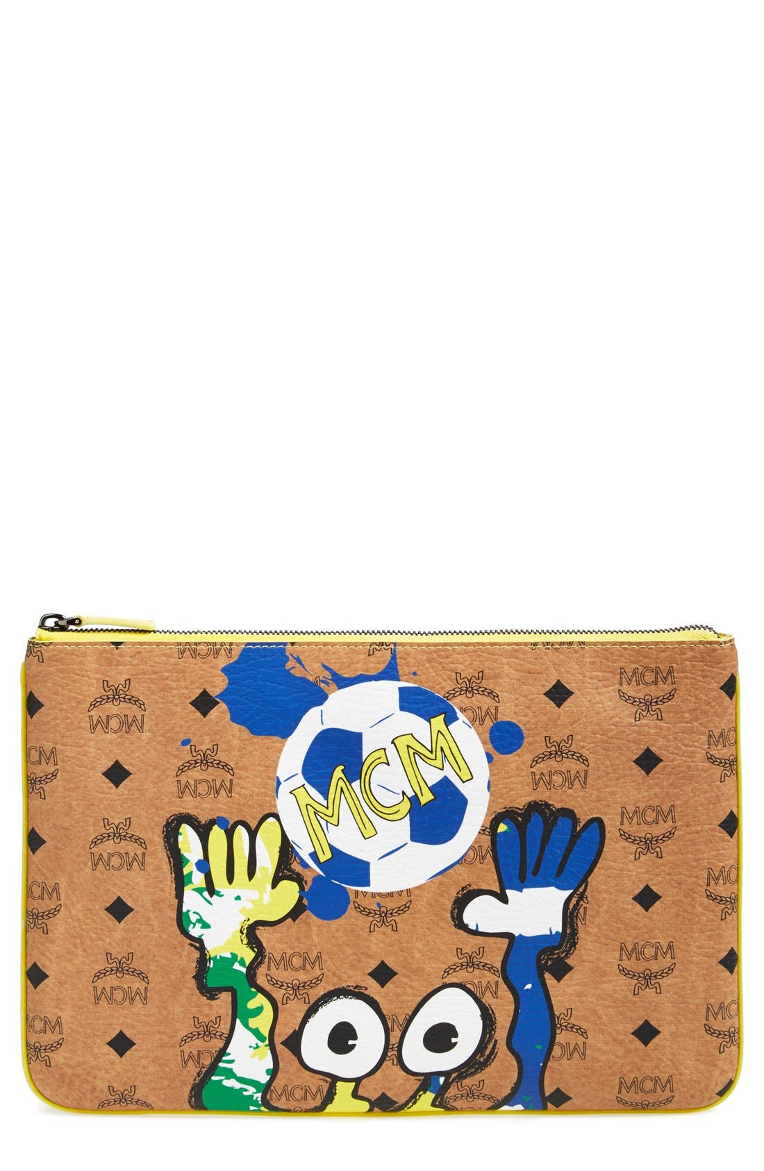 Alternate Image 1 Selected - MCM 'World Soccer' Zip Top Pouch