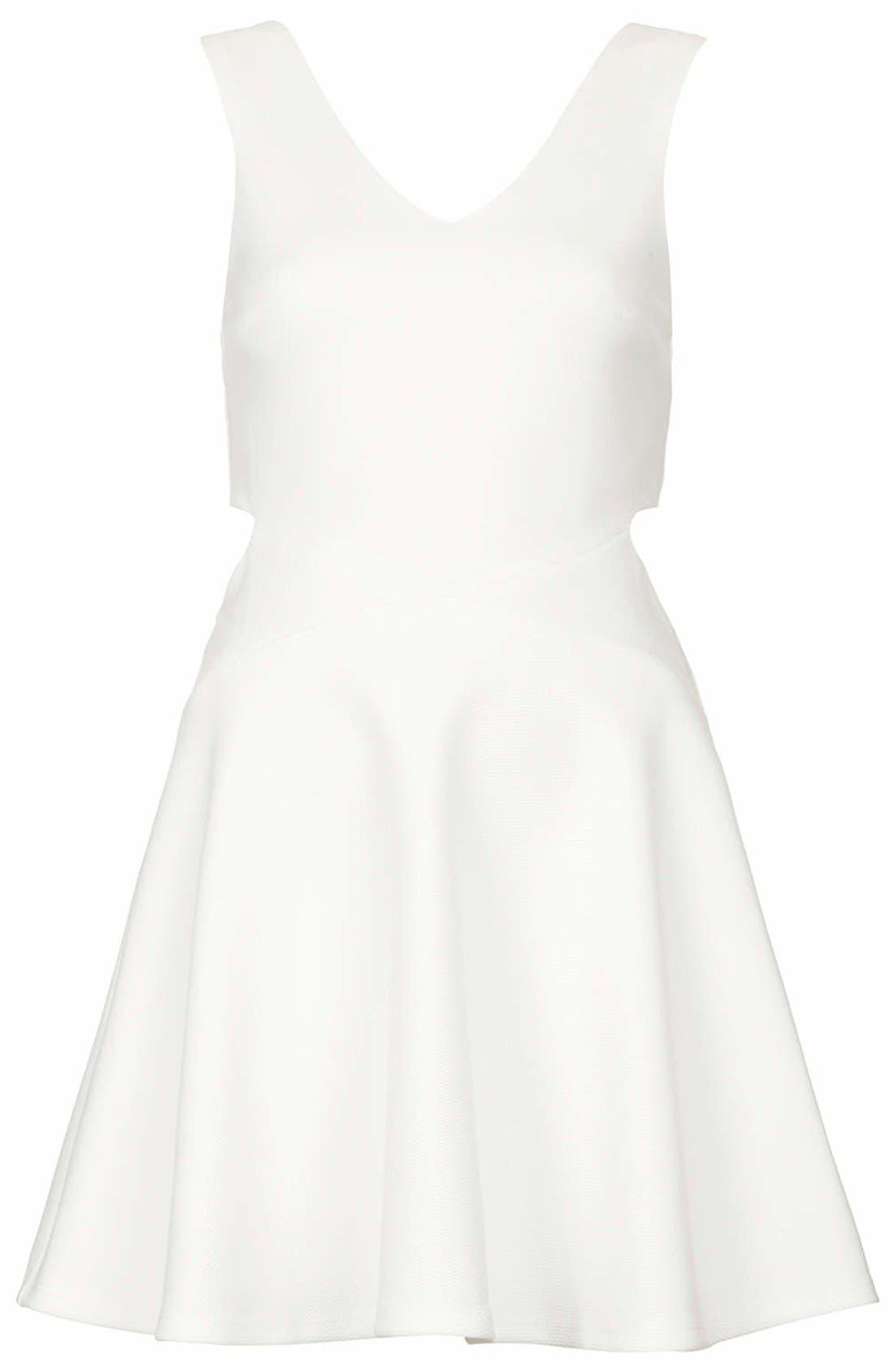 Alternate Image 3  - Topshop Cutout Skater Dress