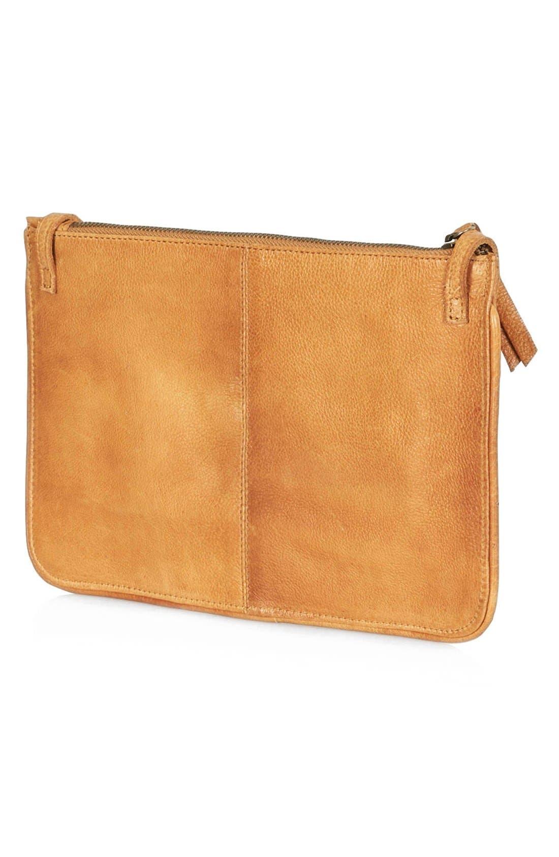 Alternate Image 4  - Topshop Tile Quilted Leather Crossbody Bag
