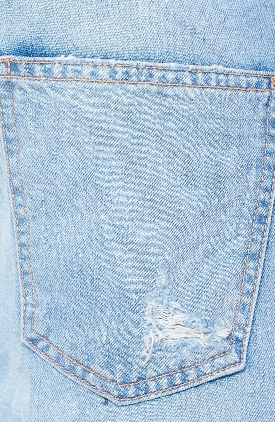 Alternate Image 3  - Current/Elliott 'The Fling' Destroyed Crop Jeans (Kasey with Repair)