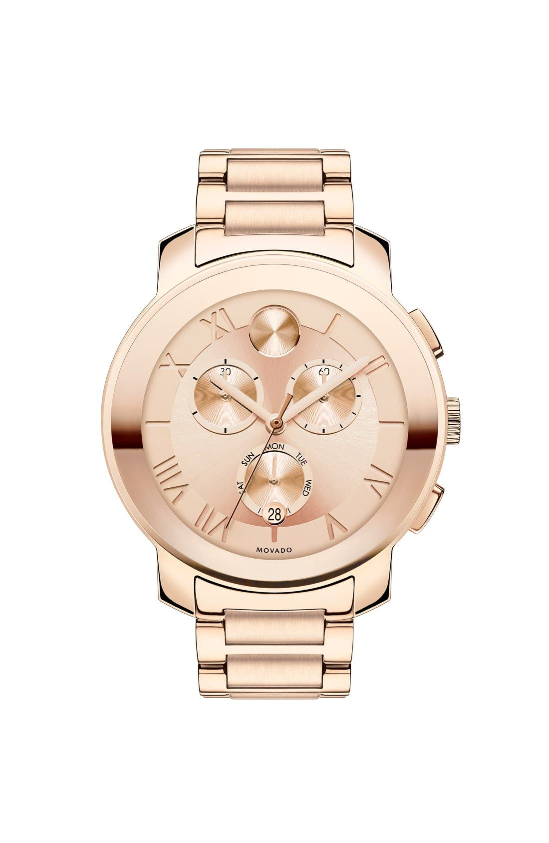 Main Image - Movado 'Bold' Round Multifunction Bracelet Watch, 40mm
