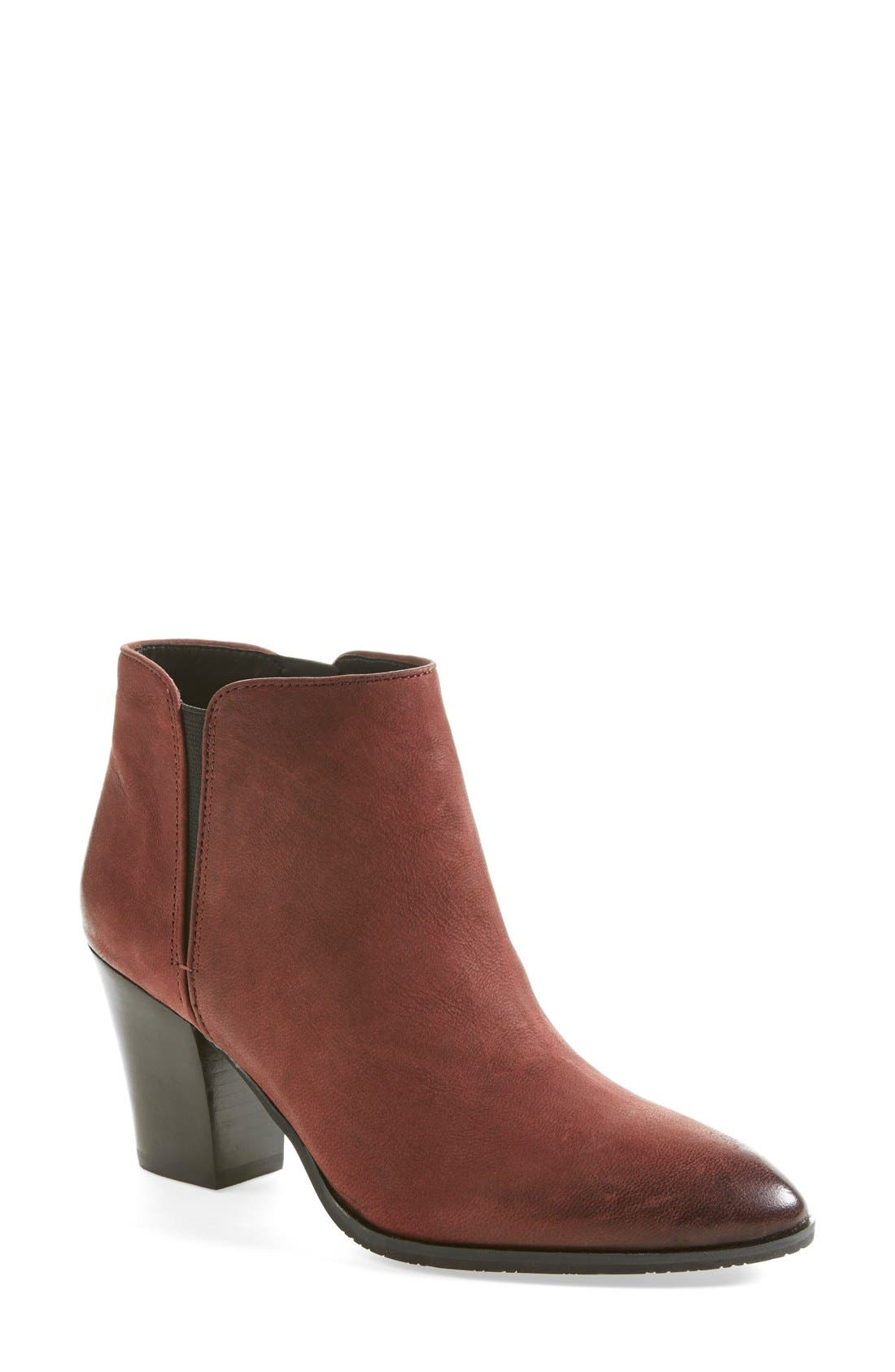 Main Image - Franco Sarto 'Agenda' Leather Bootie (Women)