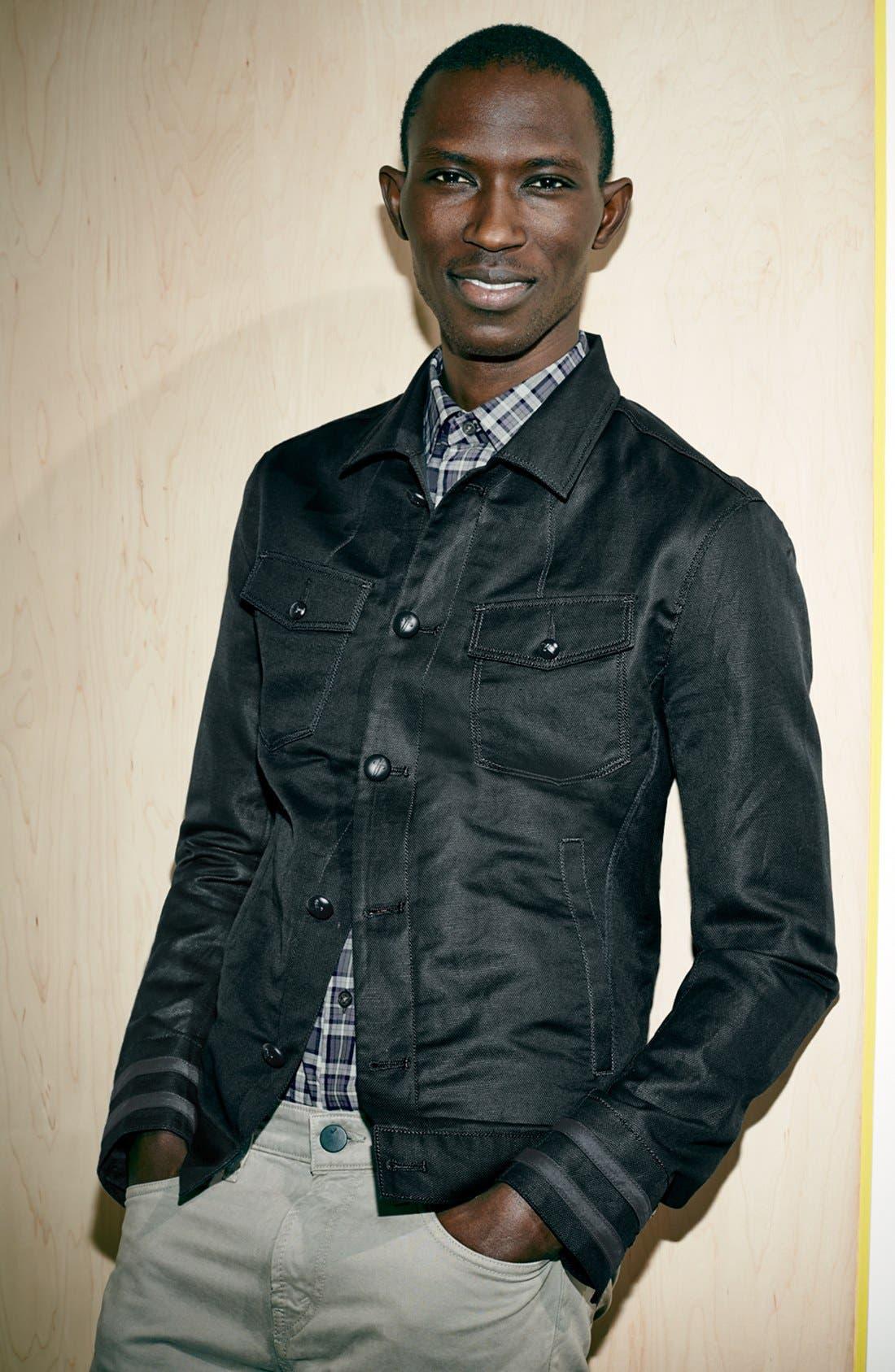 Alternate Image 6  - John Varvatos Star USA Slim Fit Cotton & Linen Jacket