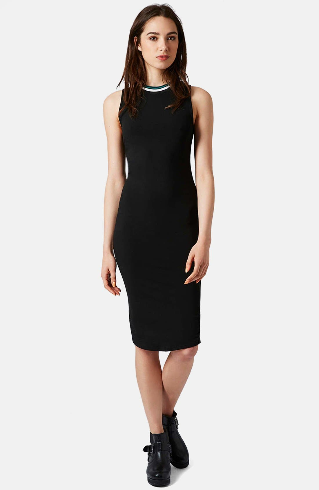 Alternate Image 5  - Topshop Contrast Trim Jersey Midi Dress