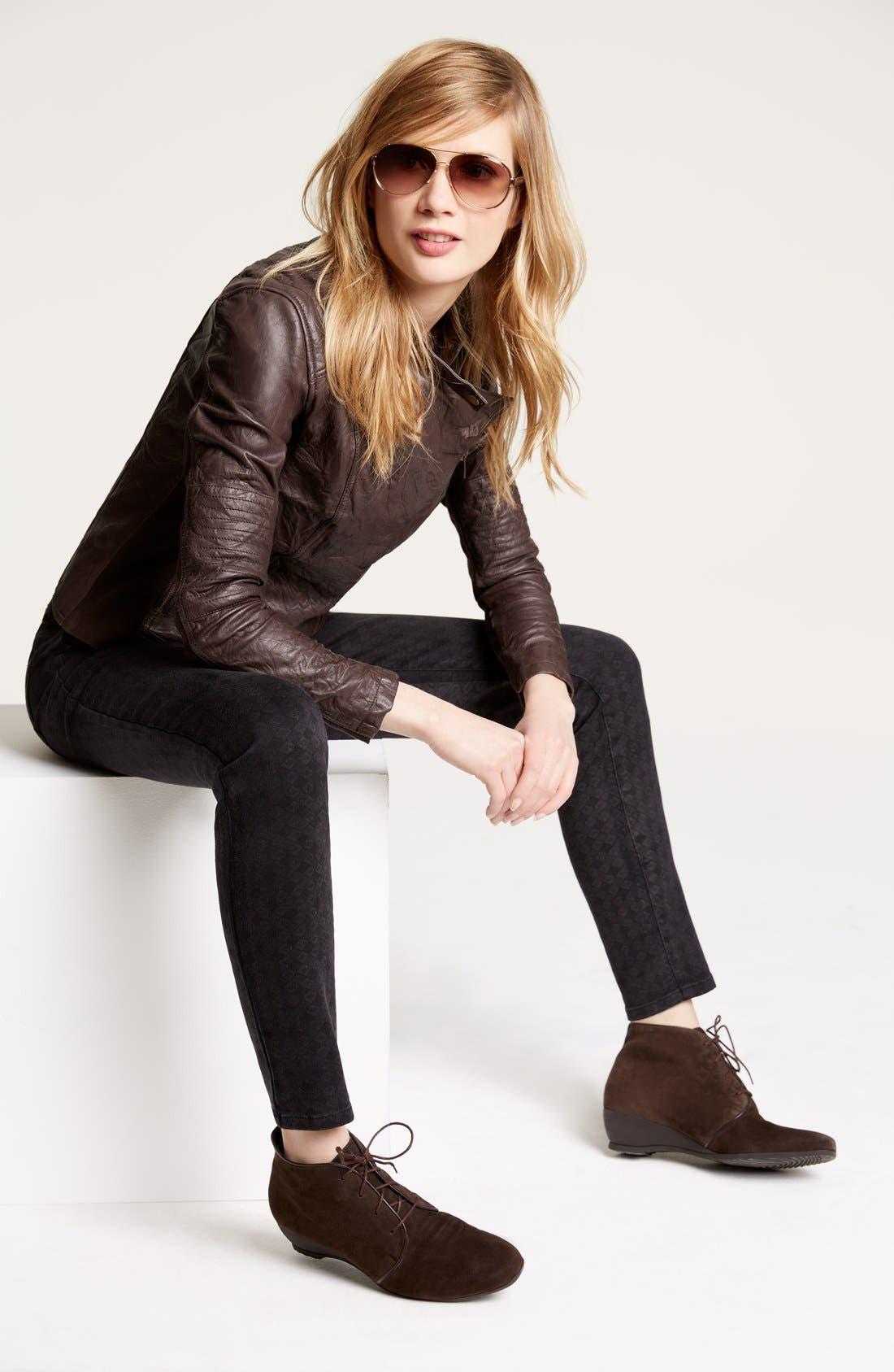 Alternate Image 4  - Wit & Wisdom Diamond Stencil Skinny Jeans (Black) (Nordstrom Exclusive)