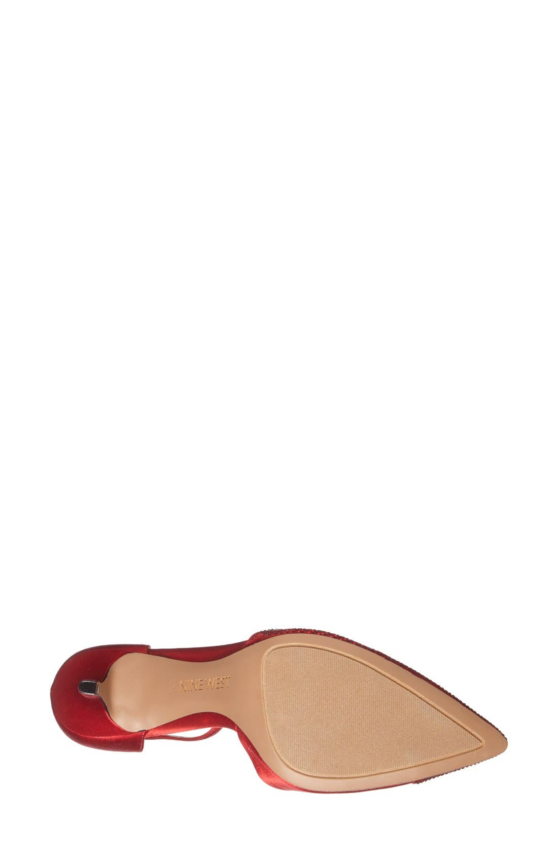 Alternate Image 4  - Nine West 'Knowledge' Pointy Toe Satin Pump (Women)