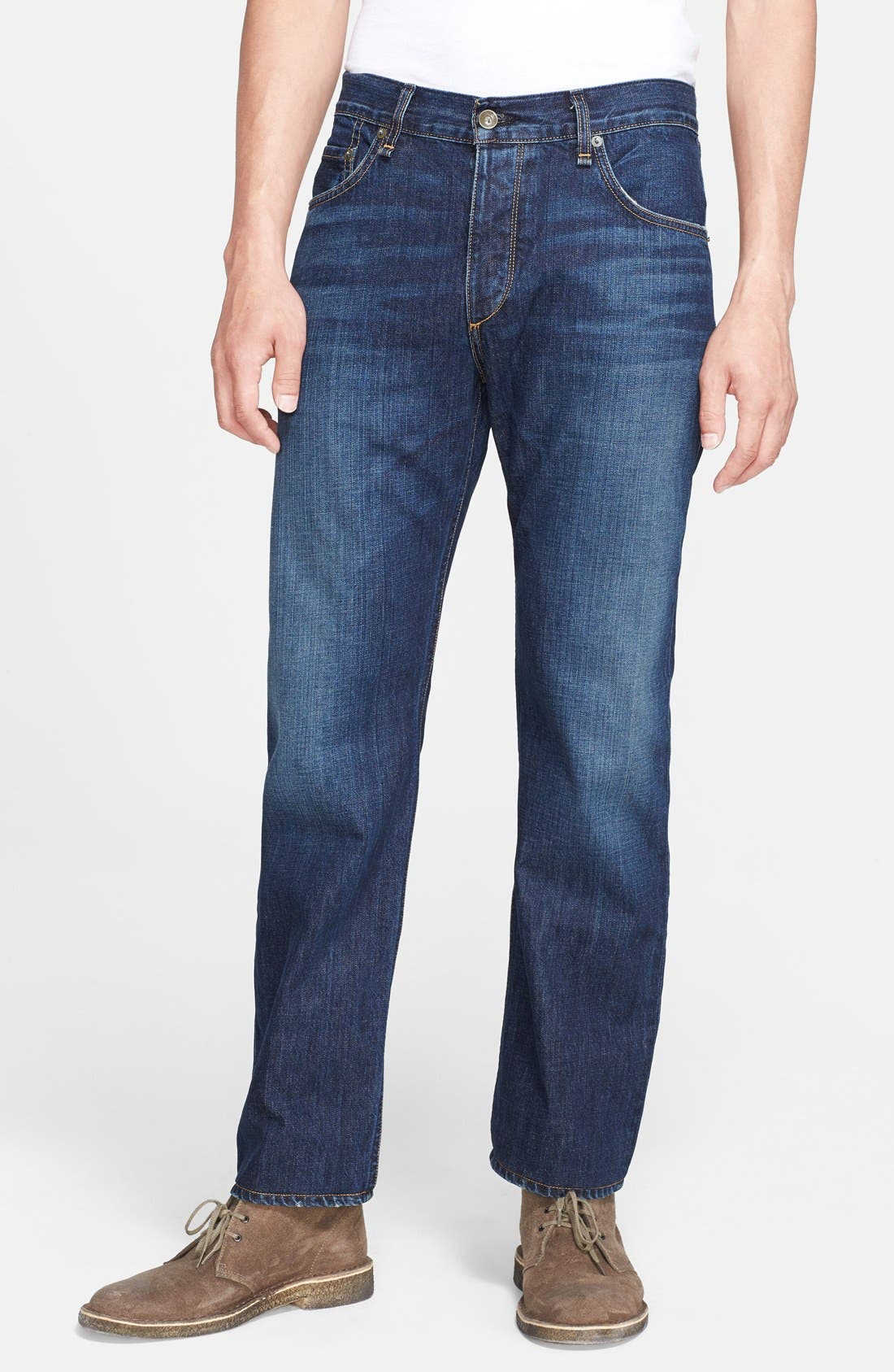 Main Image - rag & bone 'RB15X' Slim Straight Leg Jeans (Berkely Blue)