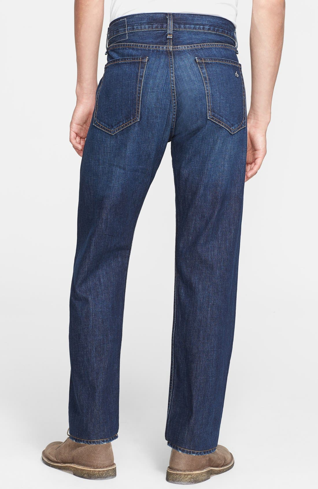 Alternate Image 2  - rag & bone 'RB15X' Slim Straight Leg Jeans (Berkely Blue)