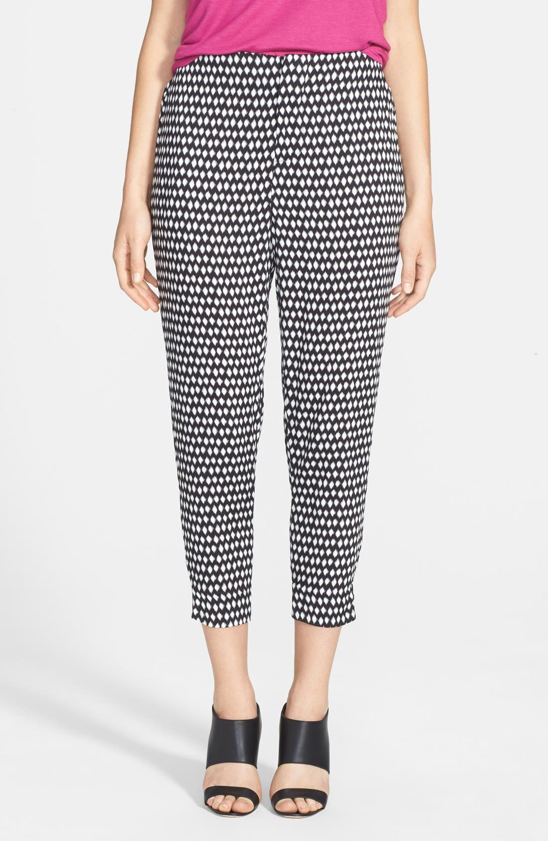 Alternate Image 1 Selected - Search for Sanity Print Crop Pants