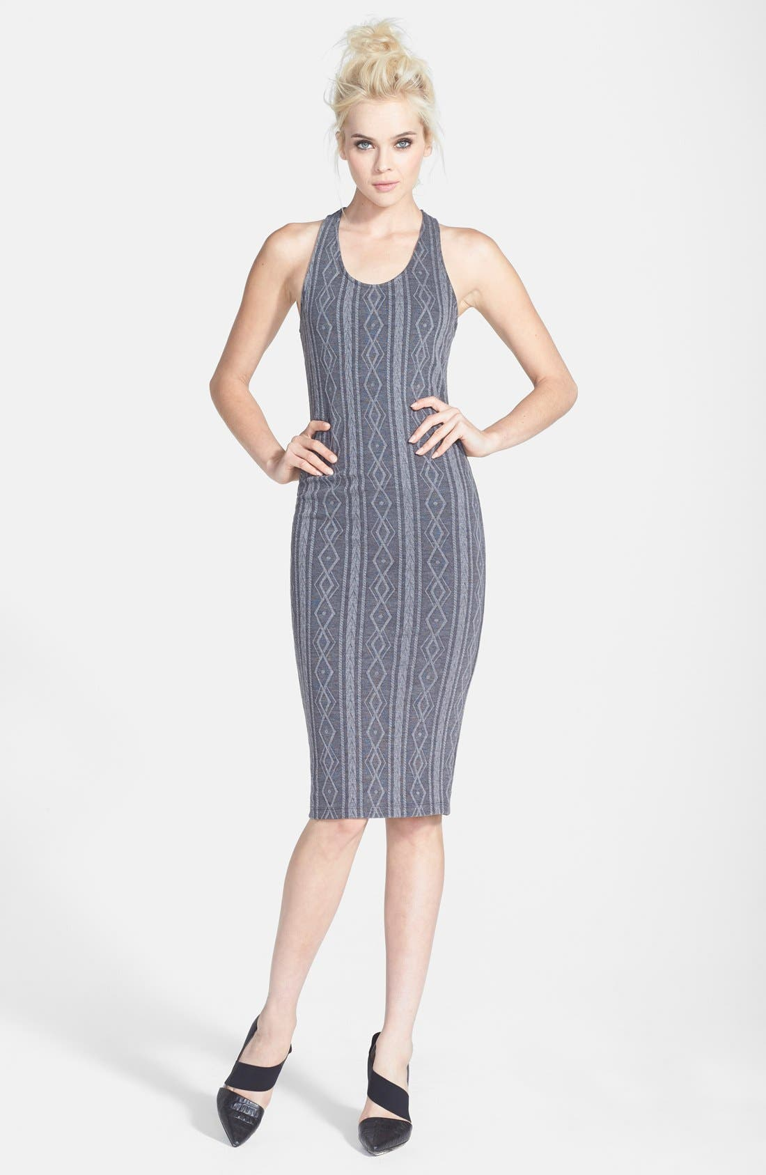 Main Image - ASTR Cross Back Body-Con Tank Dress