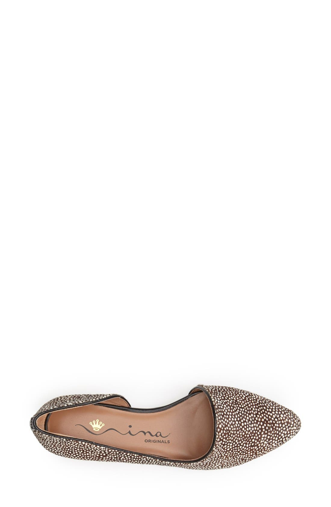 Alternate Image 3  - Nina Originals 'Quip' Calf Hair Pointed Toe Flat (Women)