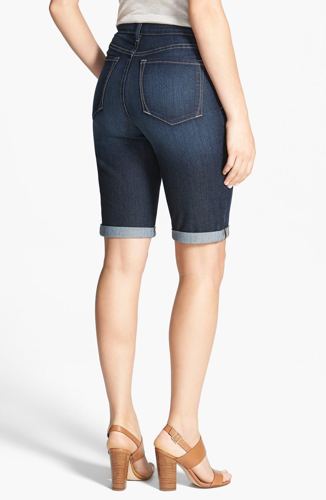 Alternate Image 2  - NYDJ 'Briella' Cuff Stretch Denim Shorts (Regular & Petite)