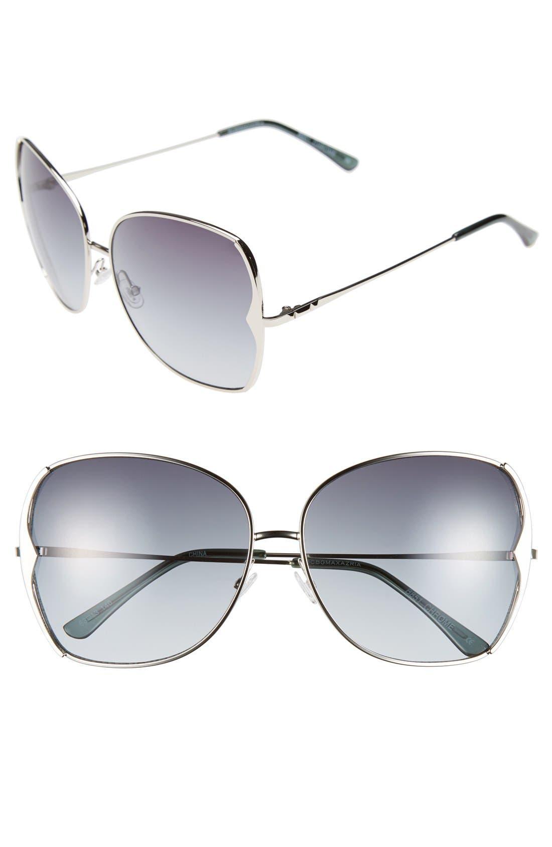 Main Image - BCBGMAXAZRIA 63mm Butterfly Sunglasses