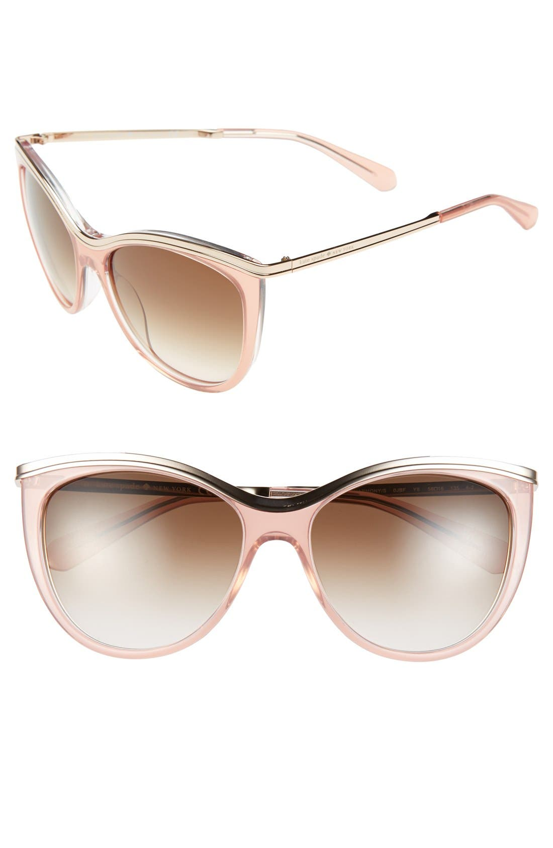 Alternate Image 1 Selected - kate spade new york 56mm cat eye sunglasses