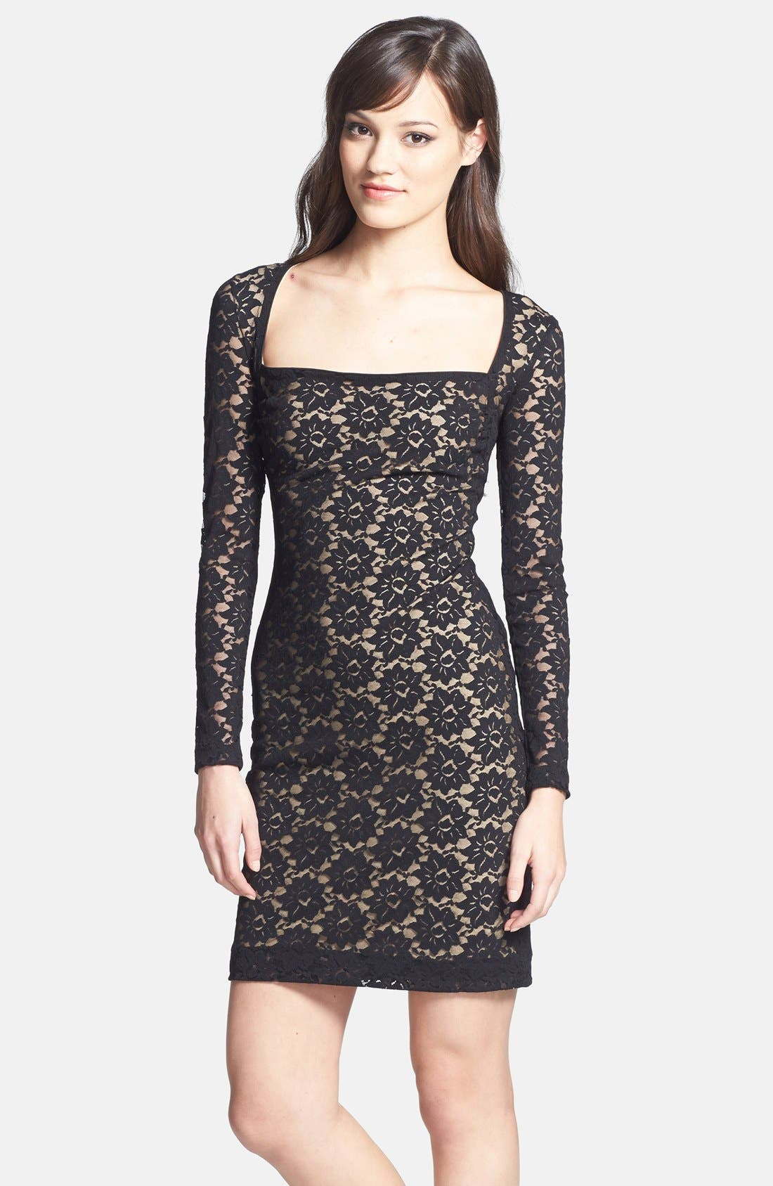 Alternate Image 1 Selected - Nicole Miller Stretch Lace Body-Con Dress