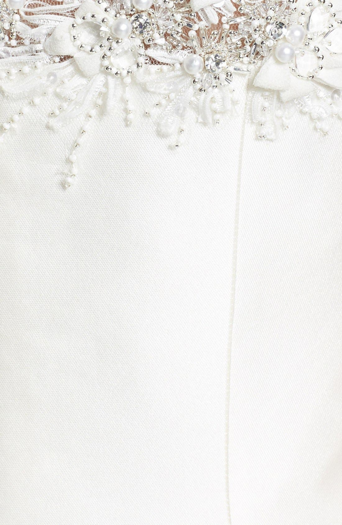 Alternate Image 3  - Badgley Mischka Bridal 'Audrey' Cap Sleeve Embellished Mermaid Dress (In Stores Only)