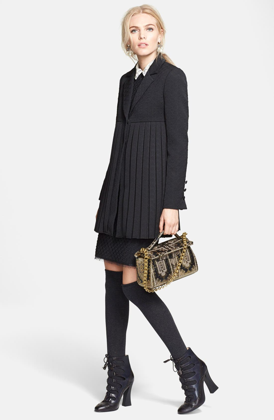 Alternate Image 4  - Tory Burch 'Ivana' Corded Dot Sheath Dress