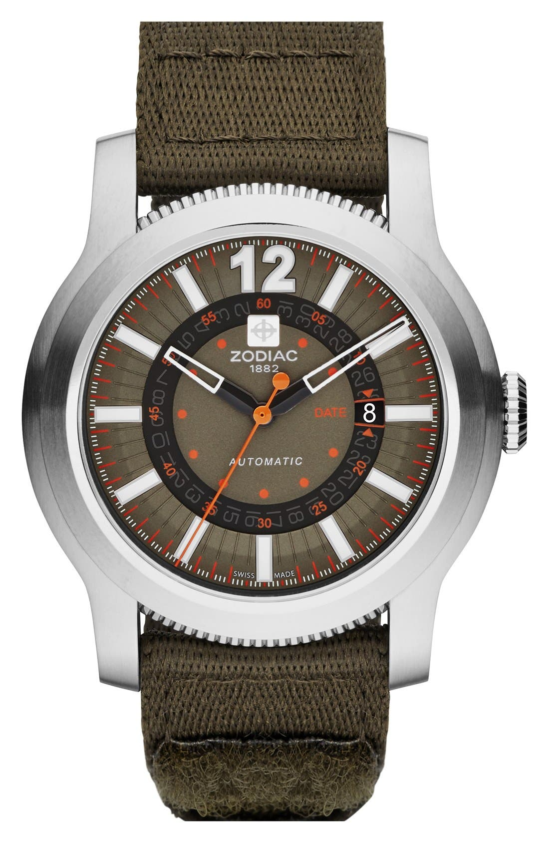 Alternate Image 1 Selected - Zodiac 'Jet-O-Matic' Automatic Watch, 46mm