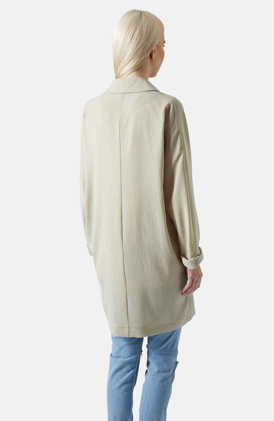 Alternate Image 2  - Topshop Crinkle Duster Jacket