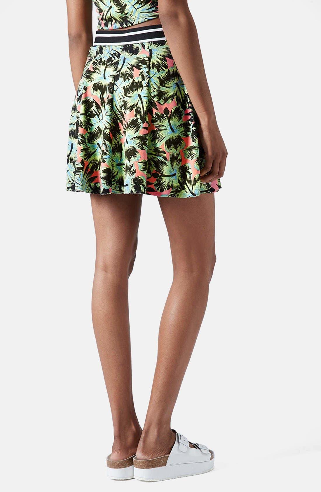 Alternate Image 4  - Topshop Hawaiian Print Pleated Skirt