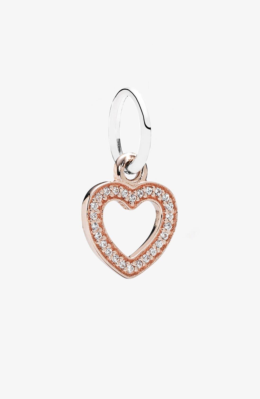 Alternate Image 1 Selected - PANDORA 'Symbol of Love' Heart Dangle Charm