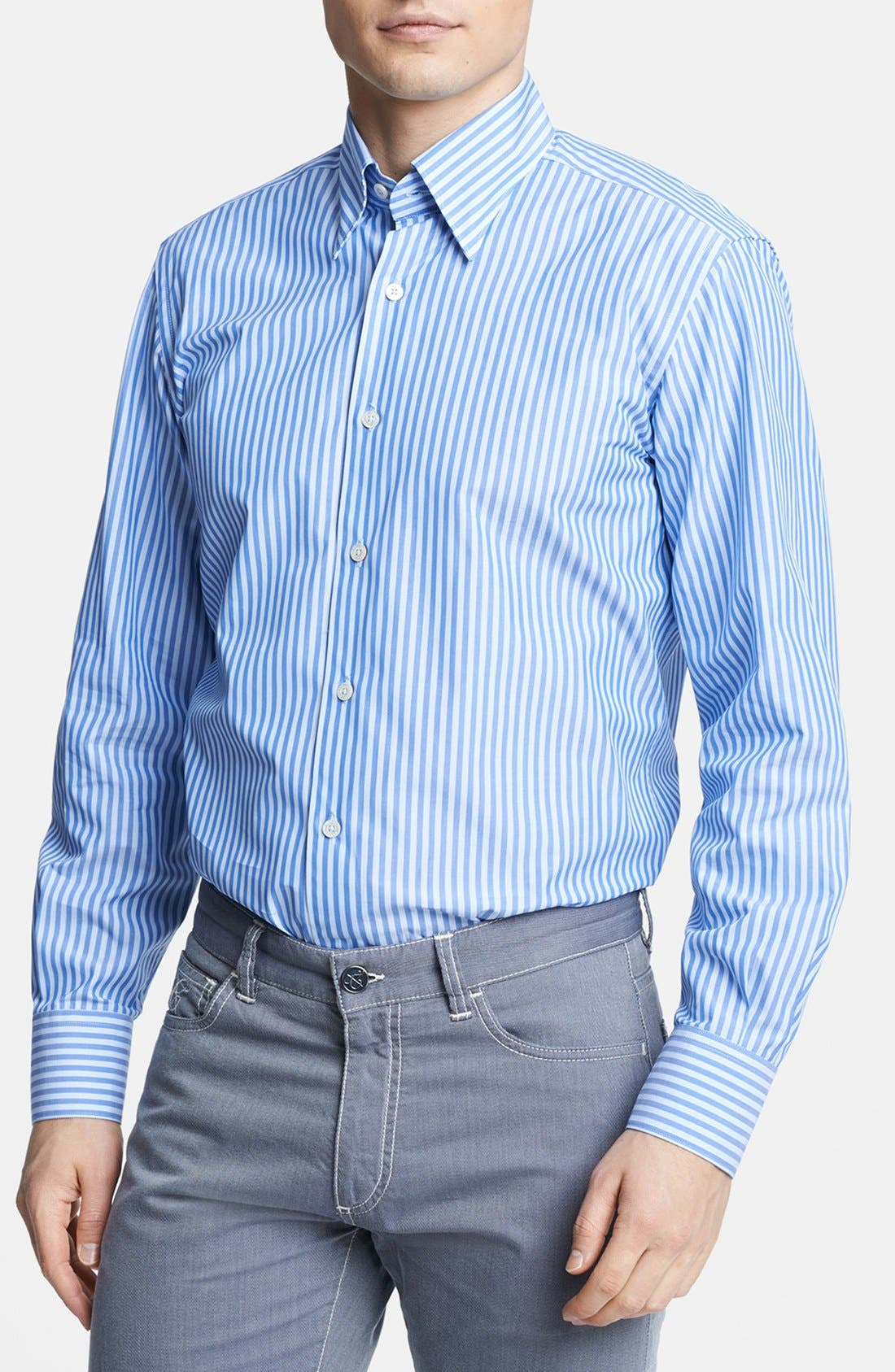 Main Image - Canali Regular Fit Italian Sport Shirt