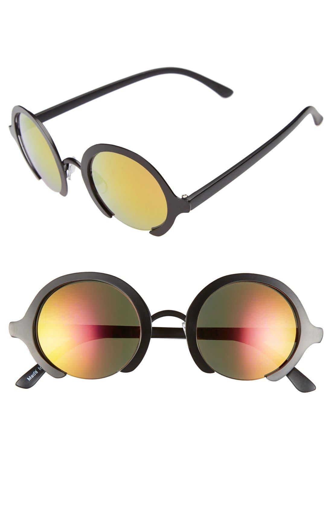 Main Image - FE NY 'Virtua' 44mm Round Sunglasses