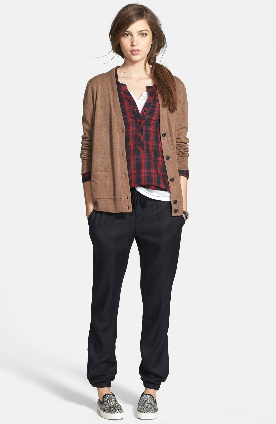 Alternate Image 4  - Ace Delivery Plaid Henley Shirt