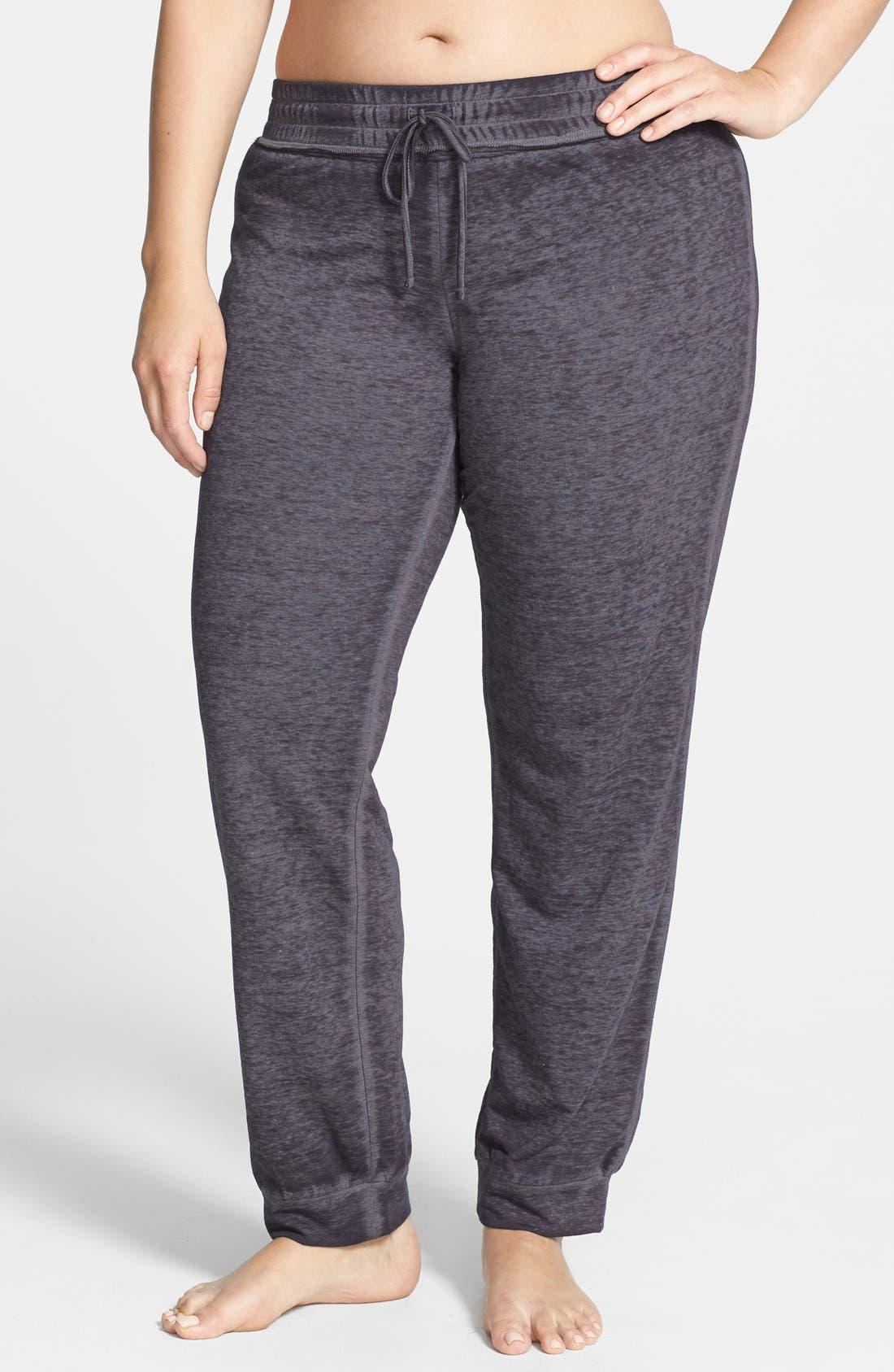 Main Image - Make + Model 'Paige' Skinny Sweatpants (Plus Size)