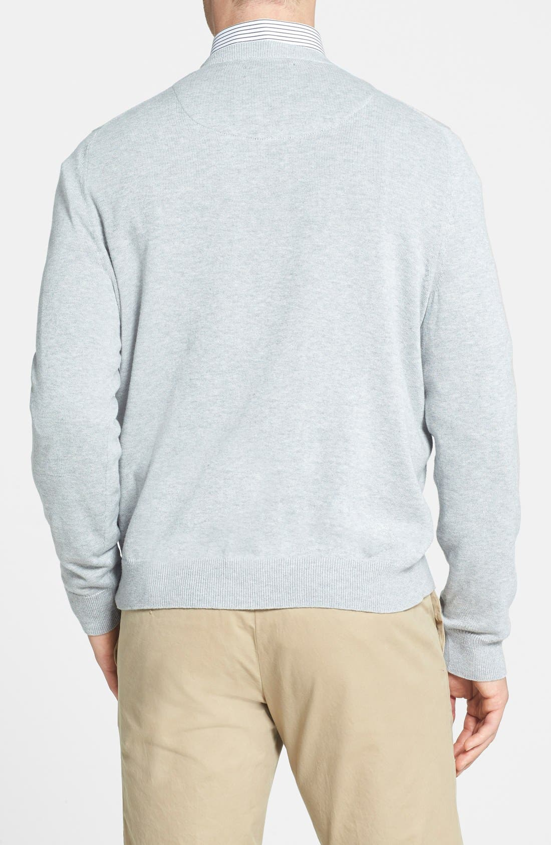 Alternate Image 2  - Nordstrom Men's Shop Cotton & Cashmere Crewneck Sweater (Regular & Tall)