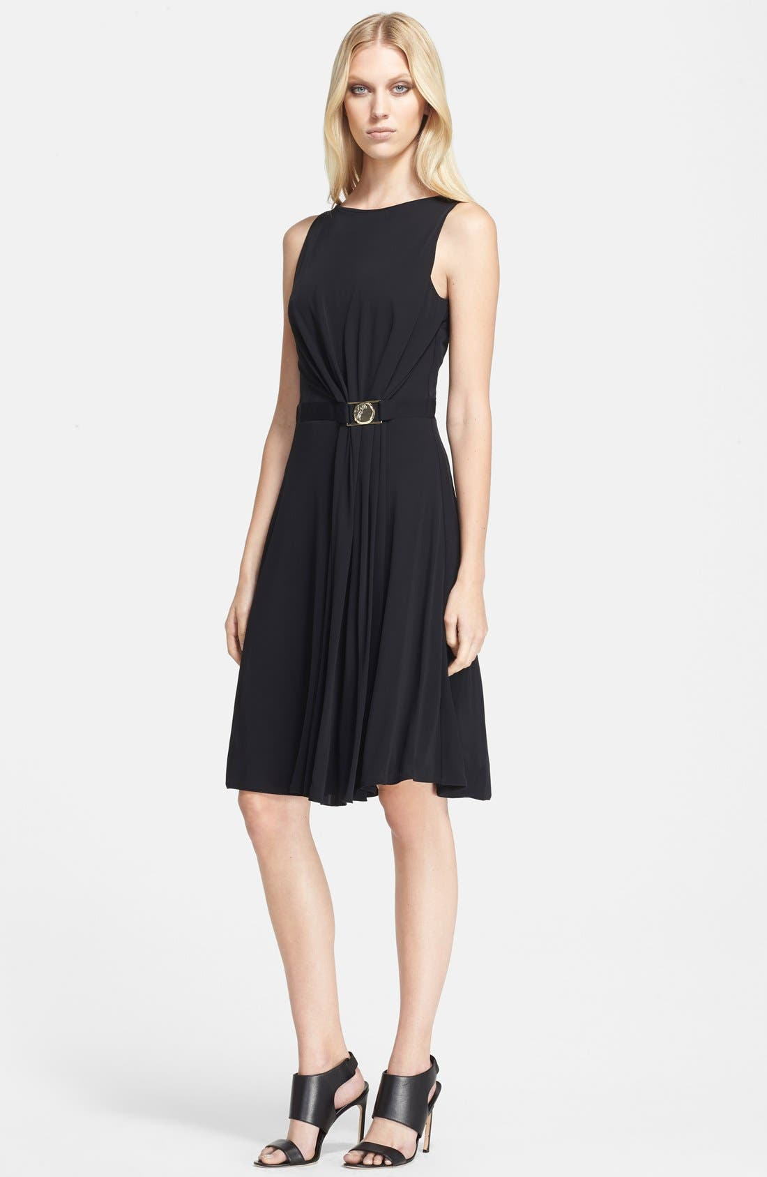 Main Image - Versace Collection Sleeveless Drape Front Jersey Dress