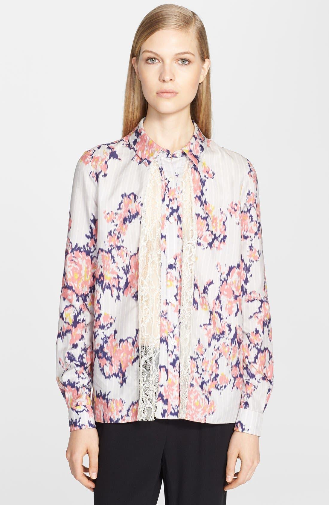 Alternate Image 1 Selected - Thakoon Lace Insert Silk Blouse