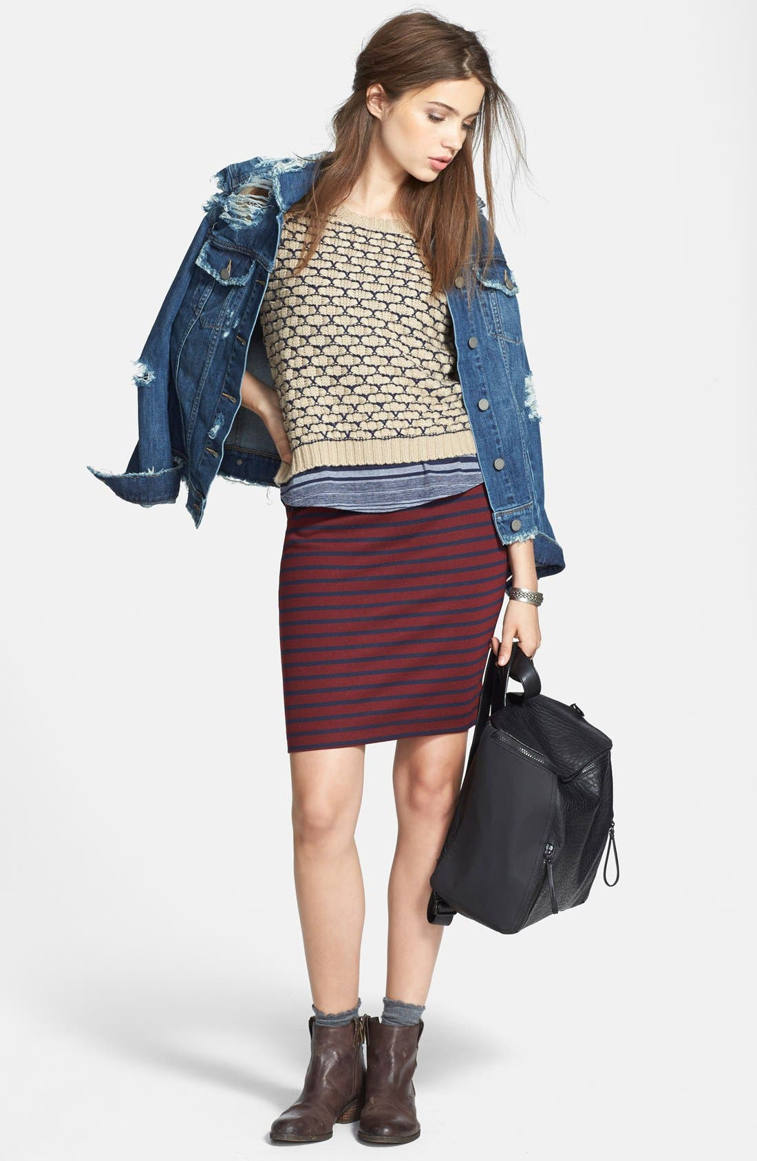 Alternate Image 10  - Ace Delivery Stripe Tube Skirt