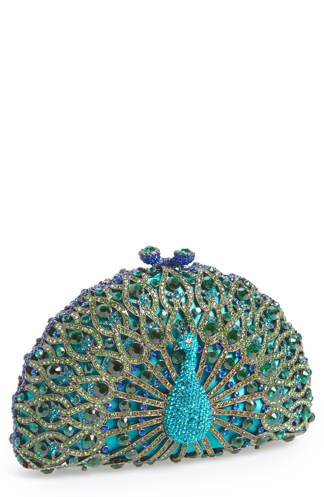 Main Image - Natasha Couture 'Peacock' Clutch