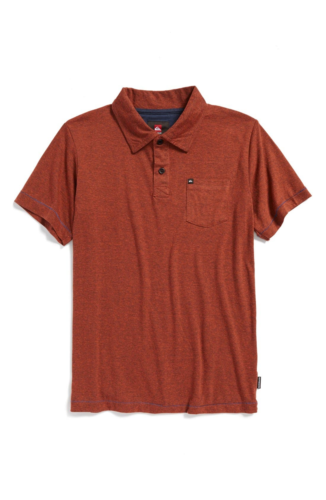 Alternate Image 1 Selected - Quiksilver 'Core' Cotton Blend Jersey Polo (Big Boys)