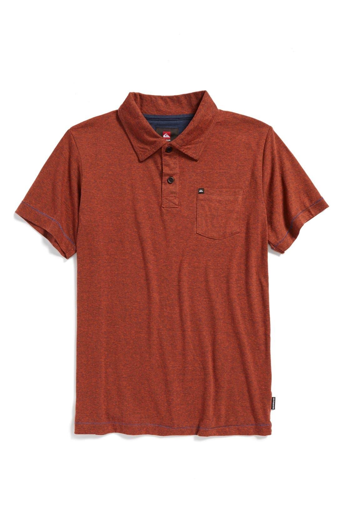 Main Image - Quiksilver 'Core' Cotton Blend Jersey Polo (Big Boys)