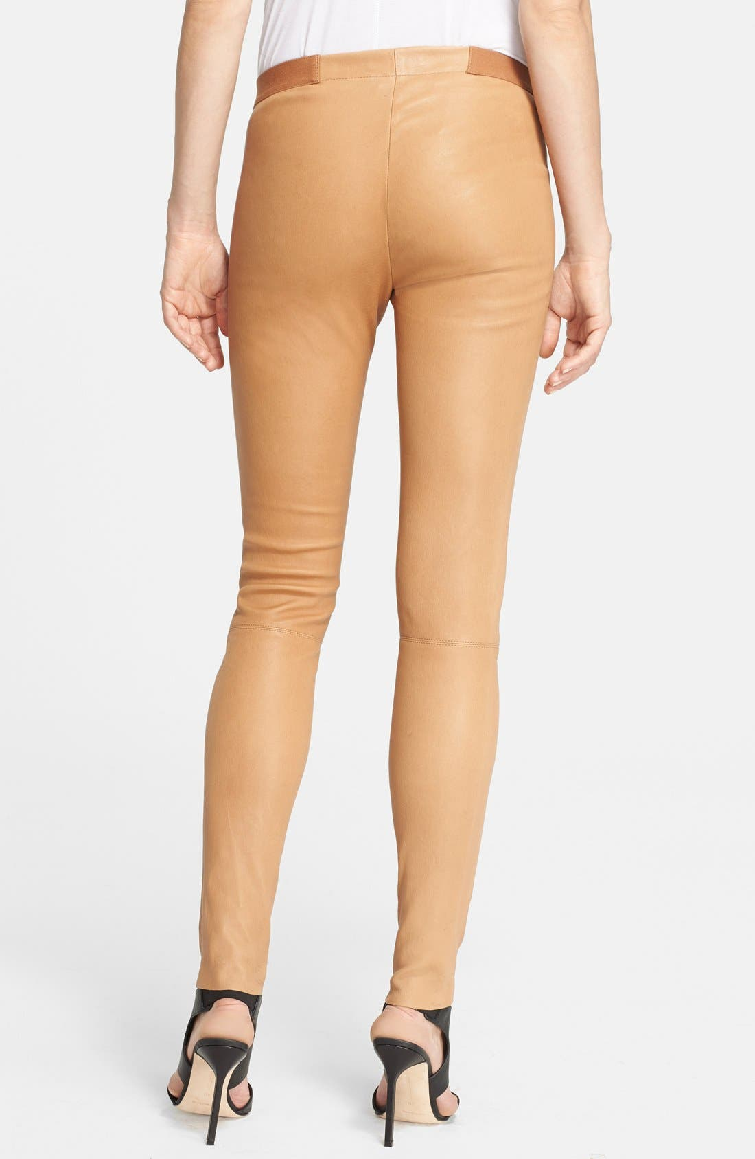 Alternate Image 2  - Alice + Olivia Leather Leggings