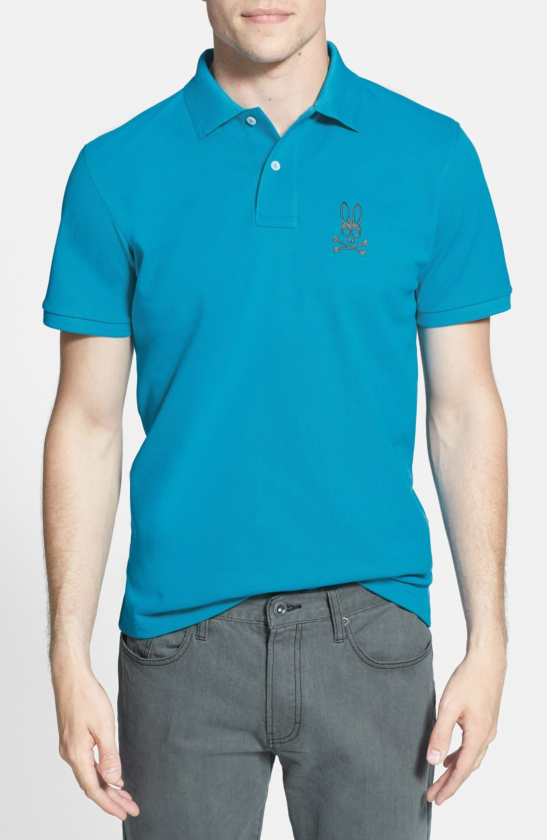 Alternate Image 1 Selected - Psycho Bunny 'Grande' Tipped Piqué Polo
