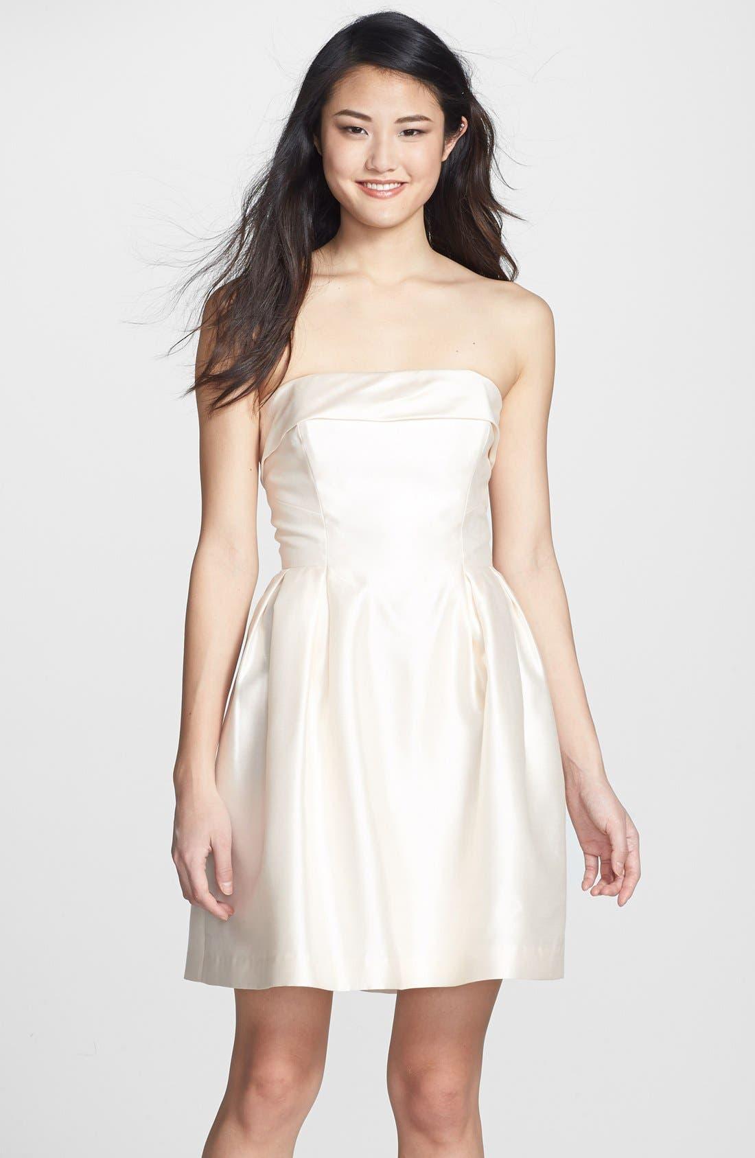 Alternate Image 1 Selected - Shoshanna 'Shaina' Silk Satin Fit & Flare Dress