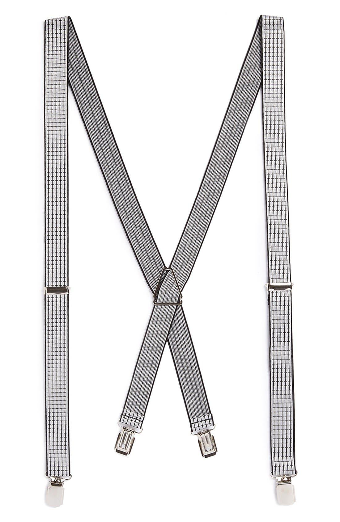 Main Image - Topman Check Suspenders