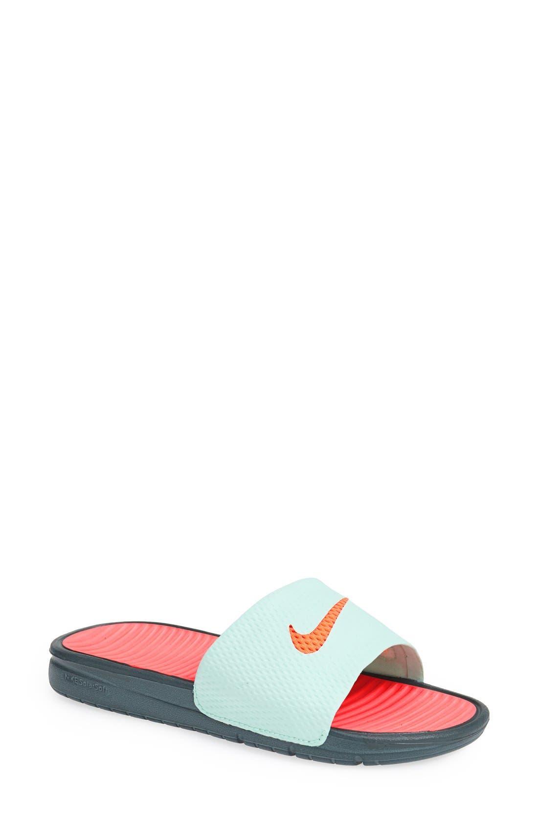 Alternate Image 1 Selected - Nike 'Benassi - Solarsoft' Slide Sandal (Women)