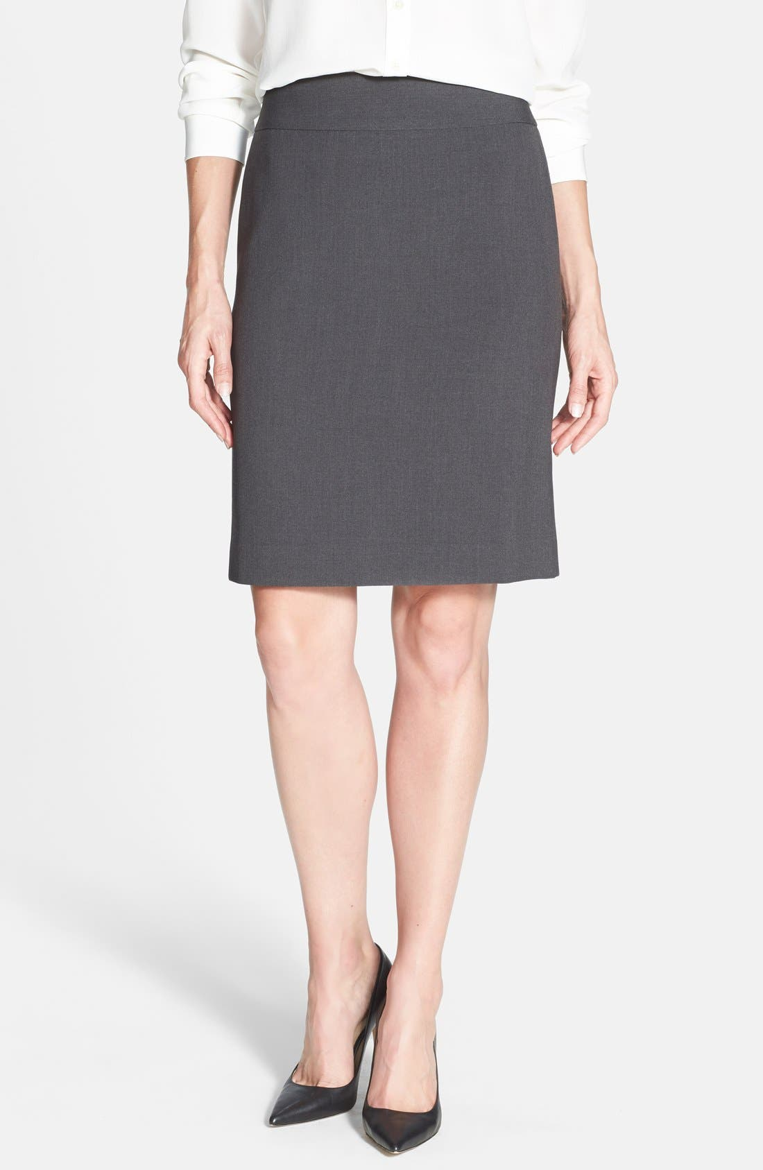 Main Image - Anne Klein Yoke Seamed Pencil Skirt